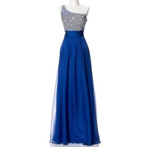 Dresses & Skirts - Sequin one shoulder prom evening gown